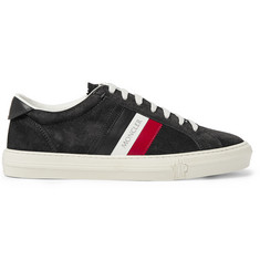 Moncler New Monaco Leather and Suede Sneakers