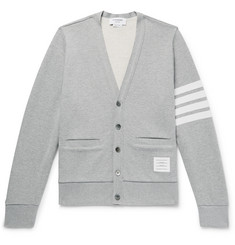 58be34c9ac Thom Browne Striped Loopback Cotton-Jersey Cardigan