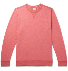 Mélange Loopback Cotton-blend Jersey Sweatshirt - Red