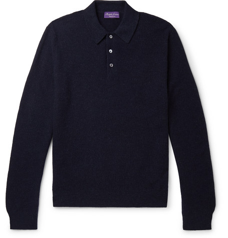 Ralph Lauren Purple Label Cashmere Polo Shirt