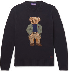 Ralph Lauren Purple Label Bear-Intarsia Cashmere Sweater