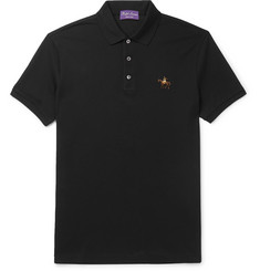 Ralph Lauren Purple Label Logo-Embroidered Mercerised Cotton-Piqué Polo Shirt