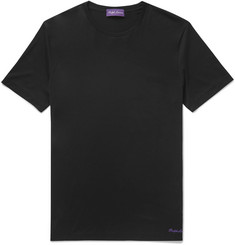 Ralph Lauren Purple Label Logo-Embroidered Pima Cotton-Jersey T-Shirt
