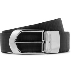 Ermenegildo Zegna 3.5cm Black Reversible Leather Belt