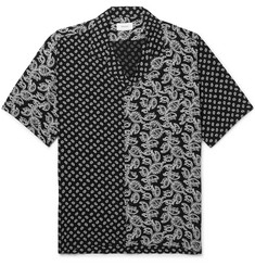 Rhude Camp-Collar Printed Woven Shirt