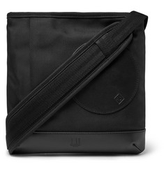 Dunhill Radial Leather-Trimmed Nylon-Canvas Messenger Bag