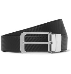 Dunhill - 3cm Black and Brown Reversible Leather Belt
