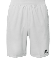 Adidas Sport 4KRFT Mesh-Panelled Striped Climalite Shorts