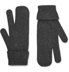 Maison Margiela - Mélange Wool and Cashmere-Blend Mittens