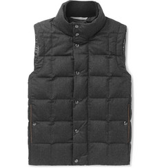 Canali Quilted Super 120s Wool Down Gilet