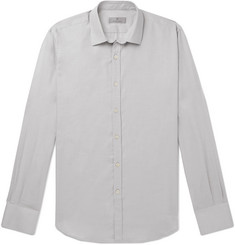 Canali Stone Slim-Fit Cotton and Cashmere-Blend Shirt