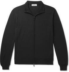 Canali Slim-Fit Merino Wool Zip-Up Sweater