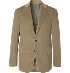 Canali Light-Brown Kei Cotton-Blend Corduroy Suit Jacket