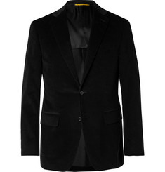 Canali - Black Kei Slim-Fit Cotton-Blend Corduroy Suit Jacket
