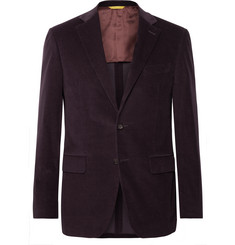 Canali - Aubergine Kei Slim-Fit Cotton-Blend Corduroy Suit Jacket
