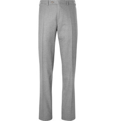 Canali Charcoal Slim-Fit Mélange Super 120s Wool Suit Trousers