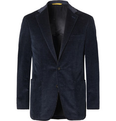 Canali - Navy Kei Slim-Fit Cotton-Blend Corduroy Blazer