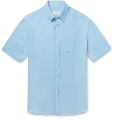 Dunhill Button-Down Collar Linen Shirt