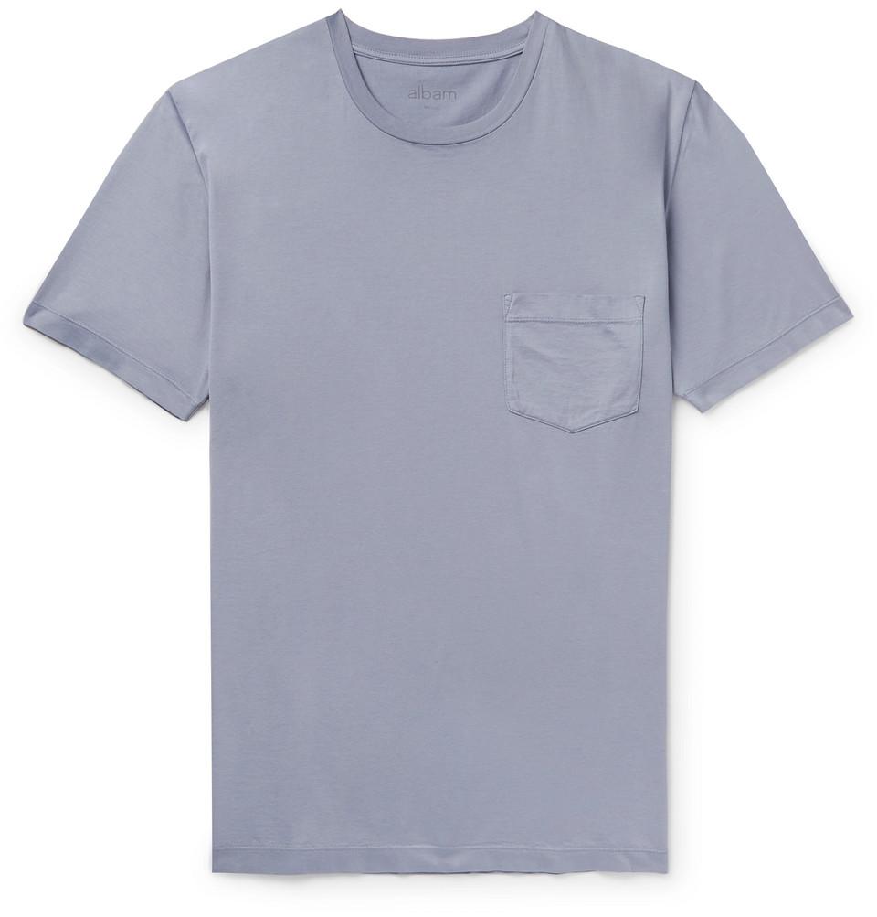 Cotton-jersey T-shirt - Blue