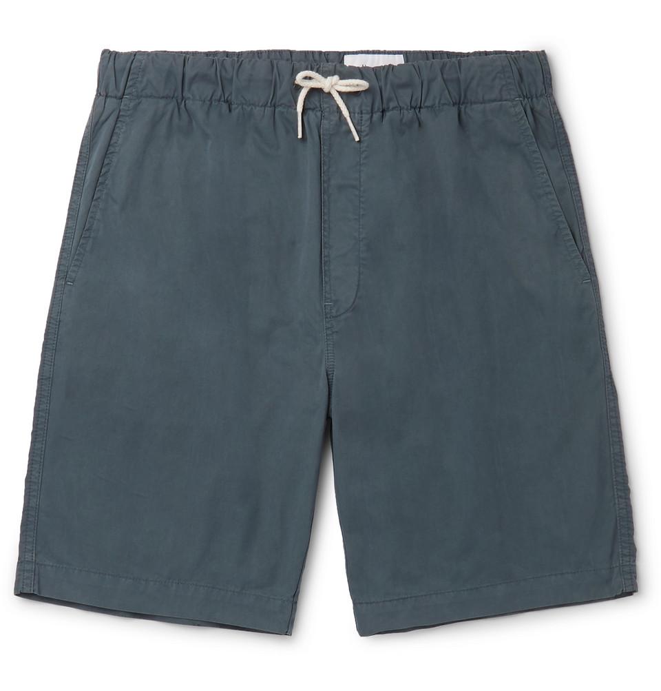 Shoreway Cotton-twill Drawstring Shorts - Navy
