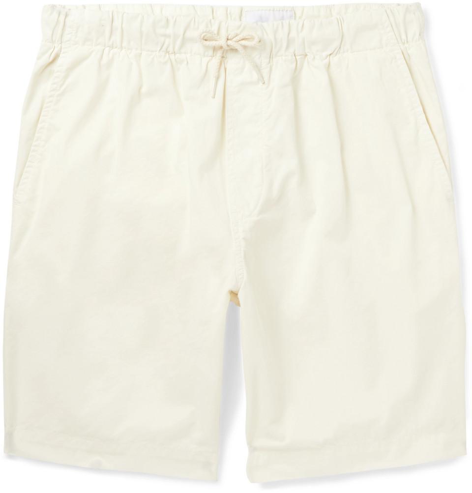Shoreway Cotton-twill Drawstring Shorts - Ecru