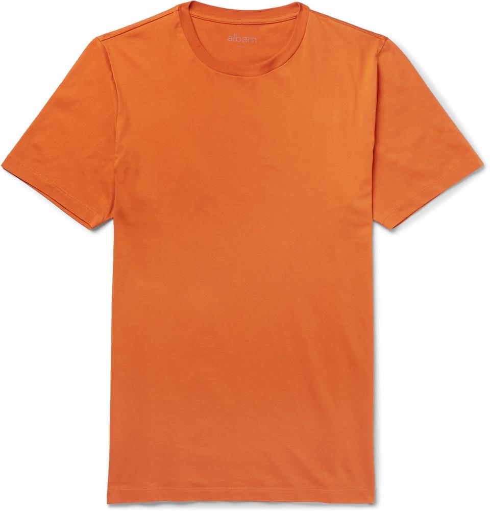 Cotton-jersey T-shirt - Orange