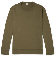 Watercolour-dyed Cashmere Sweater - Army green