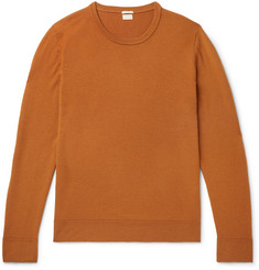 Slim-fit Watercolour-dyed Cashmere Sweater - Orange