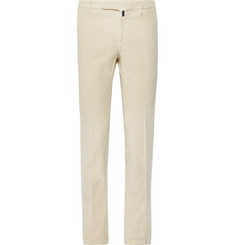 Incotex - Slim-Fit Garment-Dyed Stretch-Cotton Moleskin Trousers