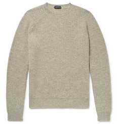 Incotex Ribbed Mélange Virgin Wool Sweater