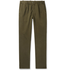 Incotex Tapered Garment-Dyed Cotton-Blend Drawstring Trousers
