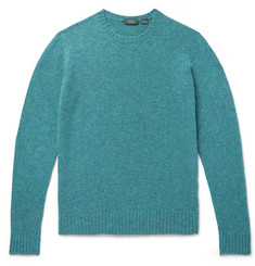 Incotex Slim-Fit Mélange Brushed-Virgin Wool Sweater
