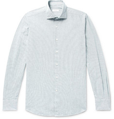 Incotex Slim-Fit Pintriped Cotton Oxford Shirt
