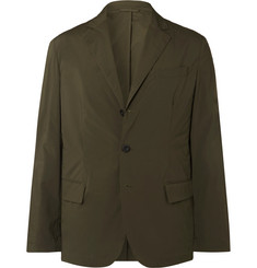 Incotex - Army-Green Unstructured Shell Blazer