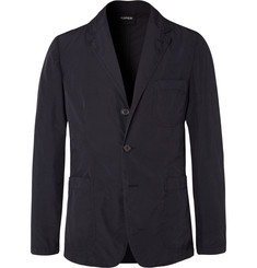 Aspesi Midnight-Blue Slim-Fit Unstructured Shell Blazer