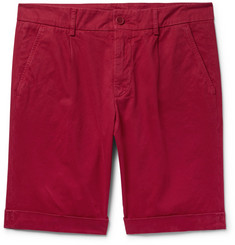 Aspesi Pleated Cotton-Twill Chino Shorts