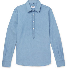 Aspesi Chambray Half-Placket Shirt