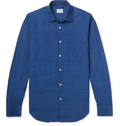 Aspesi Slim-Fit Garment-Dyed Linen and Cotton-Blend Shirt