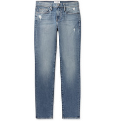 FRAME L'Homme Slim-Fit Distressed Denim Jeans