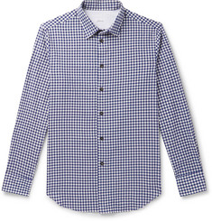 Brioni Gingham Cotton and Cashmere-Blend Flannel Shirt
