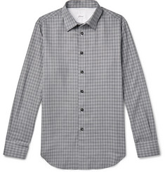 Brioni Slim-Fit Puppytooth Cotton and Cashmere-Blend Flannel Shirt