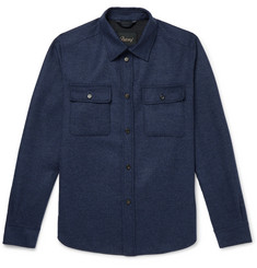 Brioni - Brushed Wool and Cashmere-Blend Overshirt