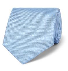 8cm Woven Silk Tie - Blue