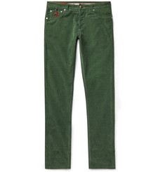 Isaia - Slim-Fit Cotton-Blend Corduroy Trousers