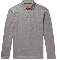 Isaia - Mélange Cotton-Jersey Polo Shirt