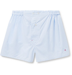 Isaia Gingham Cotton Boxer Shorts