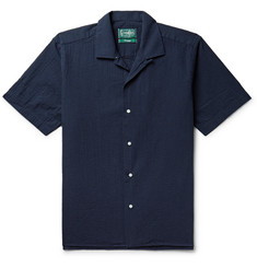 Gitman Vintage Camp-Collar Cotton-Seersucker Shirt