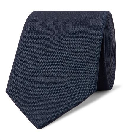 Lanvin – 7cm Textured-silk Tie – Midnight blue