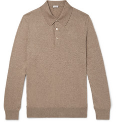 Caruso Cotton and Wool-Blend Polo Shirt