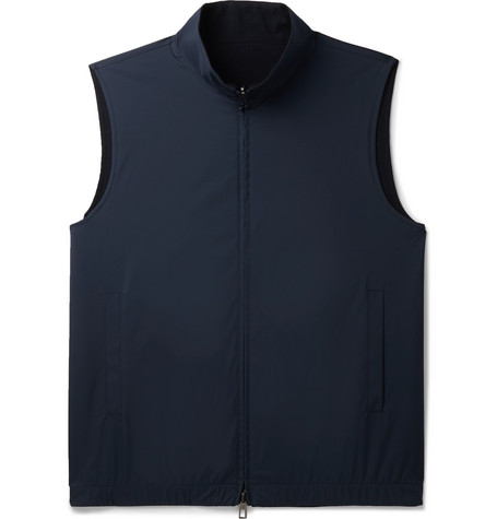 Loro Piana Reversible Storm System Shell and Super Wish Virgin Wool Gilet